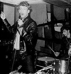 Rory Storm with Ringo Starr on drums